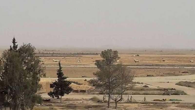 إعطاب طائرة للنظام داخل مطار الضمير العسكري