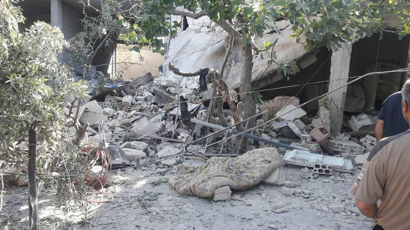 طيران الأسد السوخوي يرتكب مجزرة