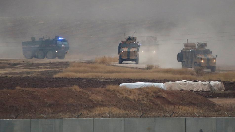 برفقة طائرات.. تسيير الدورية الروسية التركية الثالثة شمال شرقي سوريا